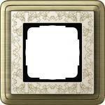GIRA 0211663  Abdeckrahmen Bronze-Cremeweiß 1-fach