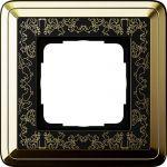 GIRA 0211672  Abdeckrahmen Messing-Schwarz 1-fach
