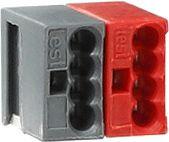 Gira 059500 KNX/EIB Anschluss- und Abzweigklemme schwarz-rot