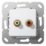 GIRA 563203 Einsatz Cinch Audio Lötanschluss Reinweiß glänzend