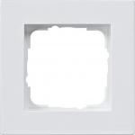 GIRA 0211225 Abdeckrahmen E2 für die flache Montageart reinweiß seidenmatt 1-fach