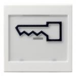 GIRA 021803 Wippe mit Beschriftungsfeld und abtastbarem Symbol - Tür- Reinweiß glänzend