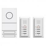 GIRA 2407902 Zweifamilienhaus-Paket Audio Verkehrsweiß (lackiert)