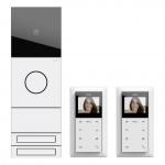 GIRA 2417902 Zweifamilienhaus-Paket Video Verkehrsweiß (lackiert)