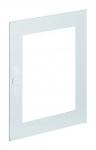 HAGER FZ104N Stahlblech-Tür rechts transparent für Schrank IP44 univers 650x550mm