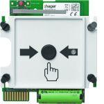 HAGER TG559A Austauschmodul für Funk-Druckknopfmelder TG558A