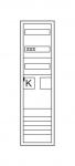 HAGER ZB31ET21N Komplettschrank universZ 1 ZP/RES BKE-I OKK IP44 1100x300x160mm