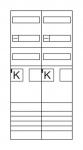 HAGER ZK3EH52 Komplettfeld 2 ZP eHZ H:1050mm 2feldig