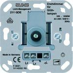 JUNG 211 GDE Drehdimmer 100-1000W mit Druck-Wechselschalter
