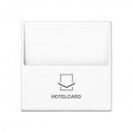 JUNG A 590 CARD WW Hotelcard-Schalter ohne Taster-Einsatz Alpinweiß hochglänzend