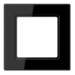 JUNG AC 581 SW Rahmen schwarz 1-fach