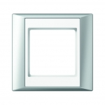 JUNG AP 581 AL WW Rahmen aluminium-alpinweiß 1-fach