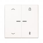 "JUNG LS 1751 PBT WW Timer Universal Bluetooth Symbol ""Pfeile"" Alpinweiß glänzend"