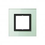 JUNG LSP 981 GLAS Abdeckrahmen Glas mattweiß 1-fach