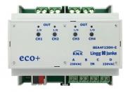 LINGG&JANKE 79244 BEA4F230H-E KNX eco+ Binär-Ein/-Ausgang 16A C-Last 4-fach