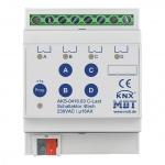 MDT AKS-0416.03 Schaltaktor 4TE REG 16A 230VAC C-Last Standard 140µF 4-fach