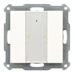 MDT RF-TA55A2.01 KNX RF Funk Taster 2-fach Plus mit Aktor reinweiß glänzend 2-fach Plus