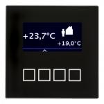MDT SCN-RT1GS.01 Glas Raumtemperaturregler mit LCD Anzeige Schwarz