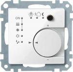 MERTEN 616719 KNX Raumtemperaturregler UP/ PI mit Tasterschnittstelle 4fach Polarweiß, glänzend