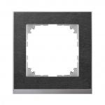 MERTEN MEG4010-3669 M-Pure Decor Abdeckrahmen schiefer/aluminium 1-fach