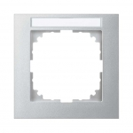 MERTEN MEG4011-3660 M-Pure Abdeckrahmen mit Beschriftungsfeld aluminium 1-fach