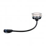 PAULMANN 939.53 Plug&Shine Bodeneinbau Leuchte Floor Eco 1W 24V IP65 silber 3000K warmweiß