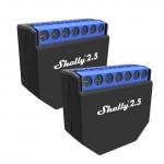 SHELLY 2.5 WiFi Schalt- / Jalousieaktor 10A mit Strommessung  2er Set