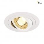 SLV 113510 Indoor Einbauleuchte NEW TRIA 1 rund weiß