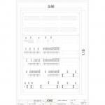 Standardverteiler mit Visualisierung 3-feldrig