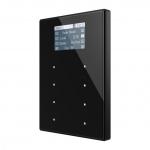 ZENNIO ZVI-TMDV-AA TMD-Display View kapazitives Touchpanel mit 8 Tasten Schwarz