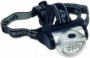 TIP 3668 Living Head LED Kopfleuchte 8xLED Silber/Schwarz PVC