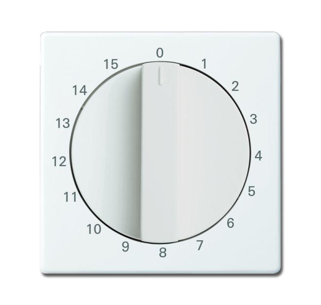 Busch Jaeger Timer Abdeckung solo//carart//axcent//future linear studioweiß 6435-84