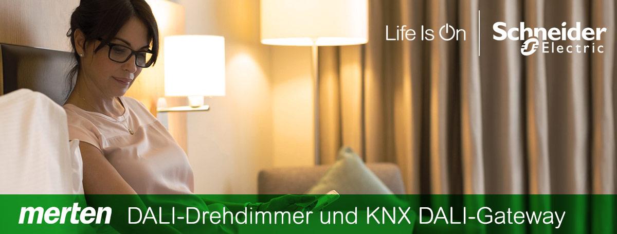 Merten DALI-Drehdimmer und KNX DALI-Gateway Basic