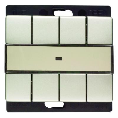 berker 27249004 funk wandsender 4fach edelstahl lackiert. Black Bedroom Furniture Sets. Home Design Ideas