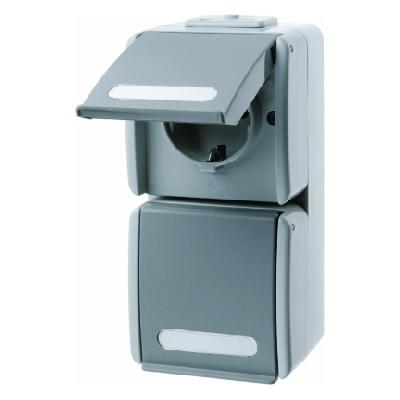 berker 477015 schuko 2fach steckdose mit klappdeckel und. Black Bedroom Furniture Sets. Home Design Ideas