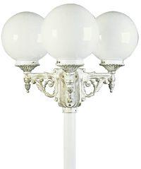 albert 672050 mastleuchte dreiflammig aluminiumgu mit opalglaskugel wei gold online kaufen. Black Bedroom Furniture Sets. Home Design Ideas