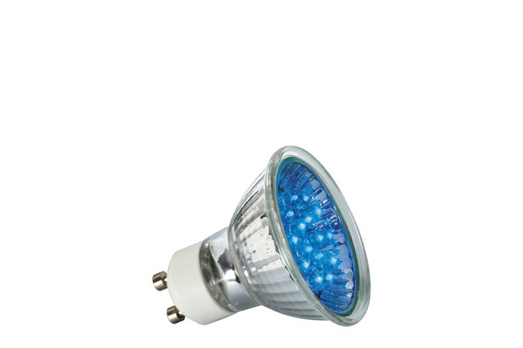 paulmann led reflektor 24 1w gu10 230v 51mm blau online kaufen im voltus elektro shop. Black Bedroom Furniture Sets. Home Design Ideas