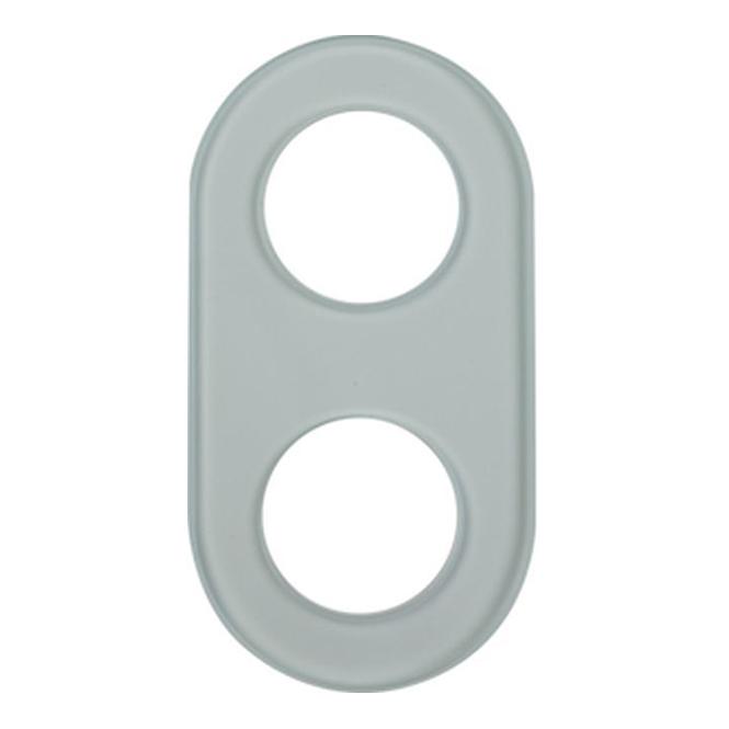 berker 1102 glas rahmen 2fach glas klar online kaufen im. Black Bedroom Furniture Sets. Home Design Ideas