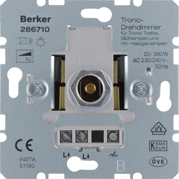 BERKER 286710 Tronic-Drehdimmer 20-360W online kaufen im Voltus ...