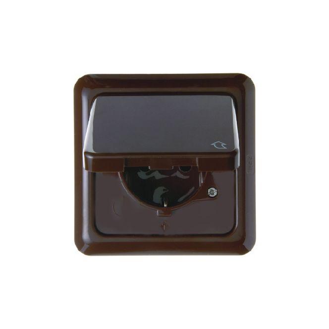 berker 471801 wg up ip44 schuko steckdose mit klappdeckel. Black Bedroom Furniture Sets. Home Design Ideas