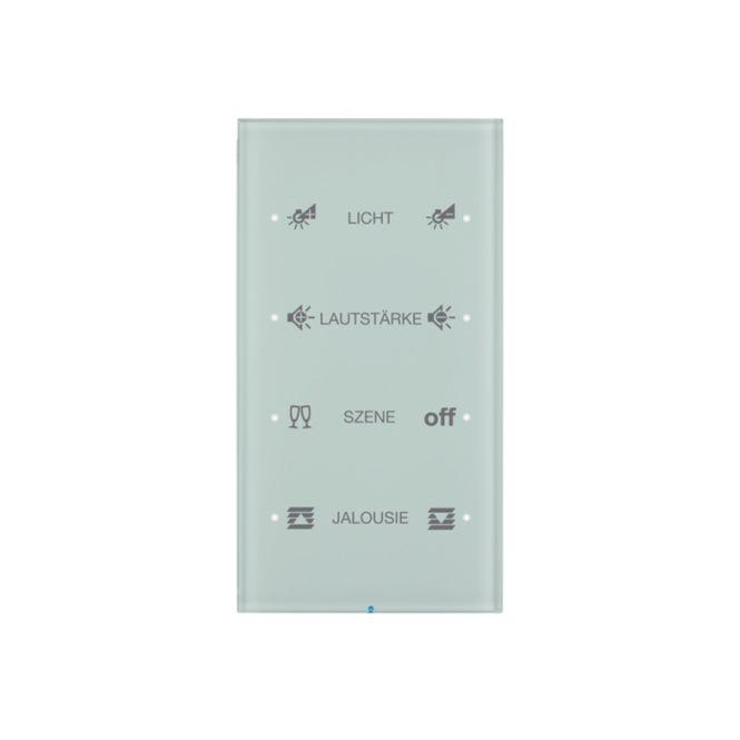 berker 75144150 touch sensor 4fach komfort konfiguriert glas polarwei online kaufen im voltus. Black Bedroom Furniture Sets. Home Design Ideas