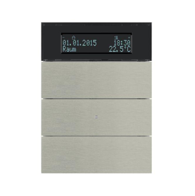 berker 75663593 b iq tastsensor 3fach mit temperaturregler edelstahl metall geb rstet online. Black Bedroom Furniture Sets. Home Design Ideas