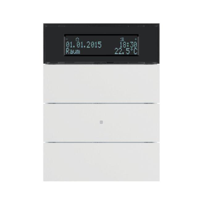 berker 75663599 b iq tastsensor 3fach mit temperaturregler polarwei matt online kaufen im. Black Bedroom Furniture Sets. Home Design Ideas