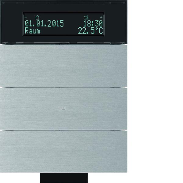 berker 75663694 b iq ir tastsensor 3fach mit temperaturregler aluminium eloxiert online kaufen. Black Bedroom Furniture Sets. Home Design Ideas