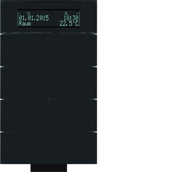berker 75664692 b iq ir tastsensor 4fach mit temperaturregler glas schwarz online kaufen im. Black Bedroom Furniture Sets. Home Design Ideas
