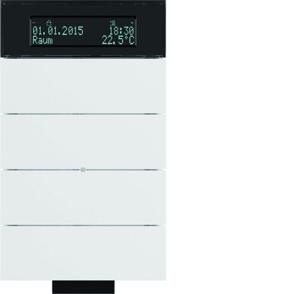 berker 75664699 b iq ir tastsensor 4fach mit temperaturregler polarwei matt online kaufen im. Black Bedroom Furniture Sets. Home Design Ideas