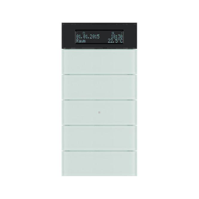 berker 75665590 b iq tastsensor 5fach mit temperaturregler glas polarwei online kaufen im. Black Bedroom Furniture Sets. Home Design Ideas