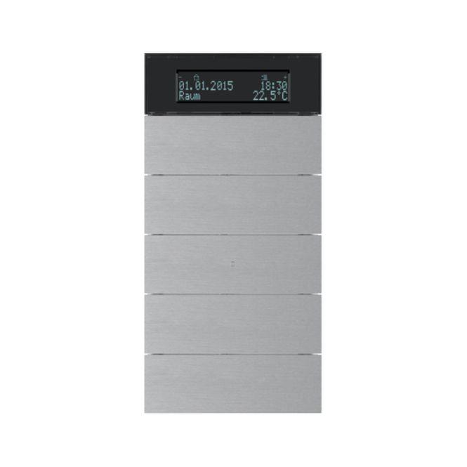 berker 75665594 b iq tastsensor 5fach mit temperaturregler aluminium eloxiert online kaufen im. Black Bedroom Furniture Sets. Home Design Ideas