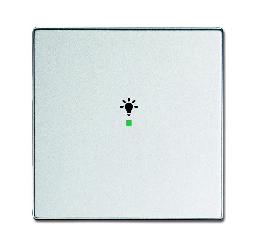 busch jaeger 6231 10 83 wippe 1 fach mit symbol licht alusilber online kaufen im voltus. Black Bedroom Furniture Sets. Home Design Ideas