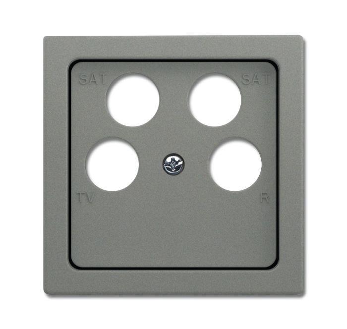 busch jaeger 1743 10 04 803 abdeckung f r 4 fach antennensteckdose graumetallic online kaufen im. Black Bedroom Furniture Sets. Home Design Ideas